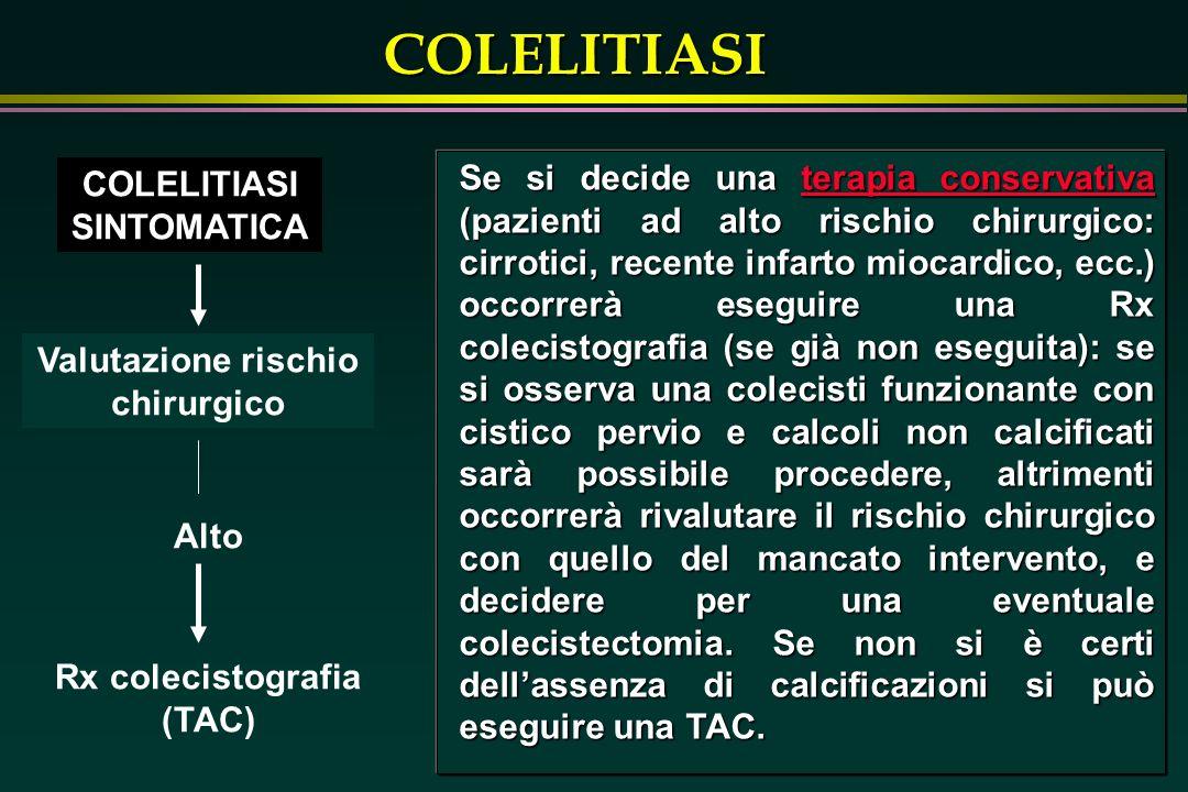 Valutazione rischio chirurgico Rx colecistografia (TAC)