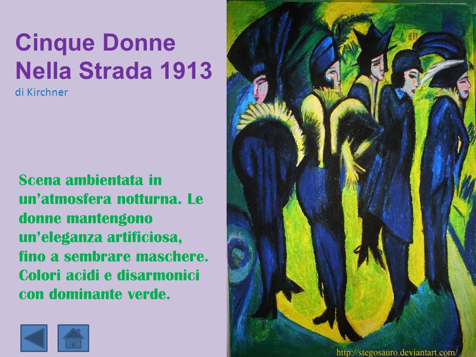 Cinque Donne Nella Strada 1913 di Kirchner