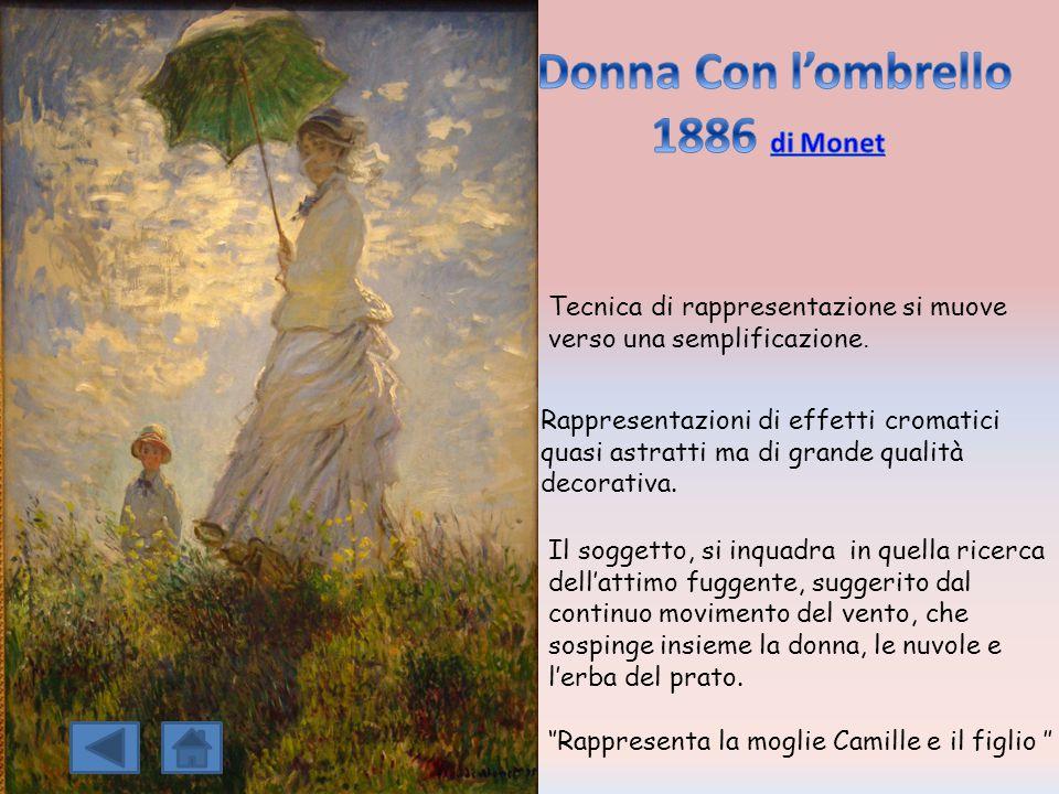 1886 di Monet Donna Con l'ombrello