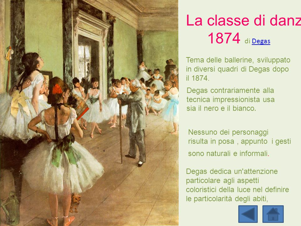 La classe di danza 1874 di Degas