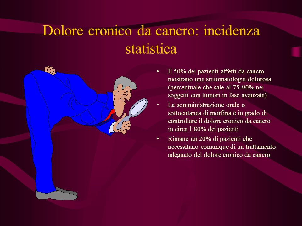 Dolore cronico da cancro: incidenza statistica