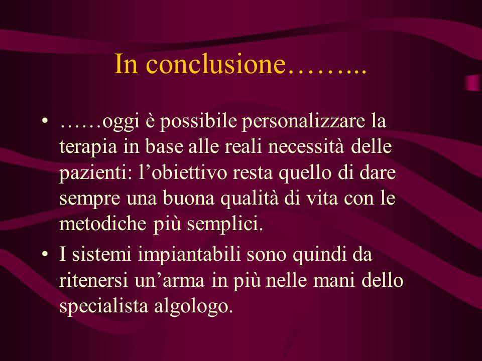 In conclusione……...