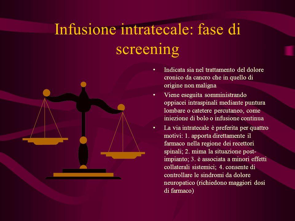 Infusione intratecale: fase di screening