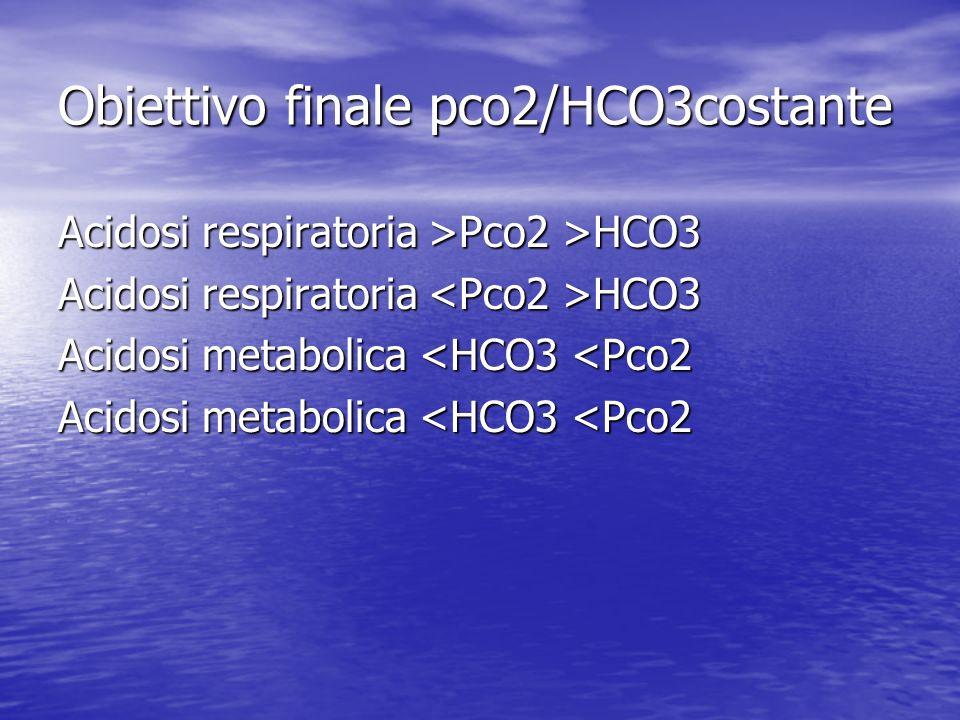 Obiettivo finale pco2/HCO3costante