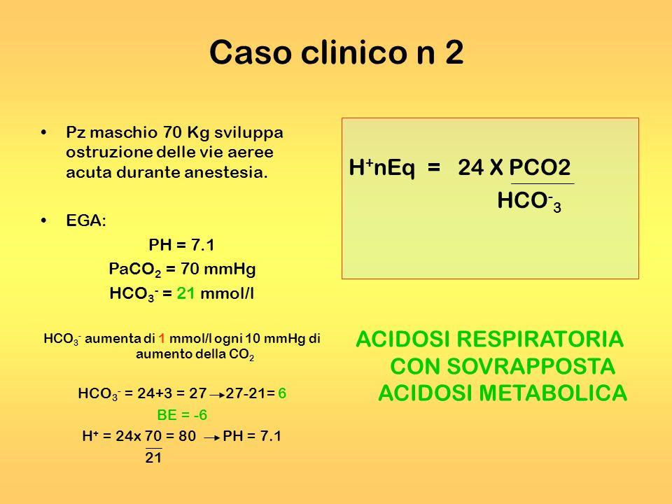 Caso clinico n 2 H+nEq = 24 X PCO2 HCO-3