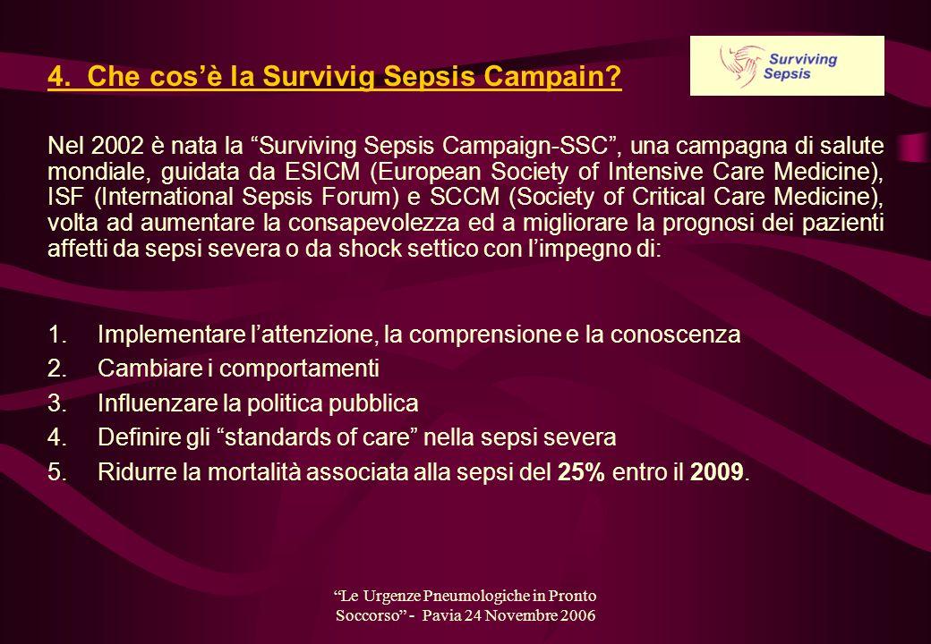 4. Che cos'è la Survivig Sepsis Campain