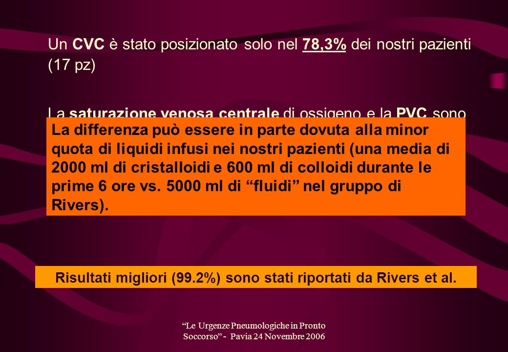 Risultati migliori (99.2%) sono stati riportati da Rivers et al.