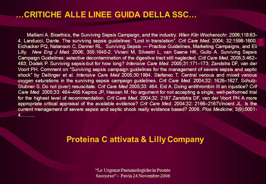 Proteina C attivata & Lilly Company