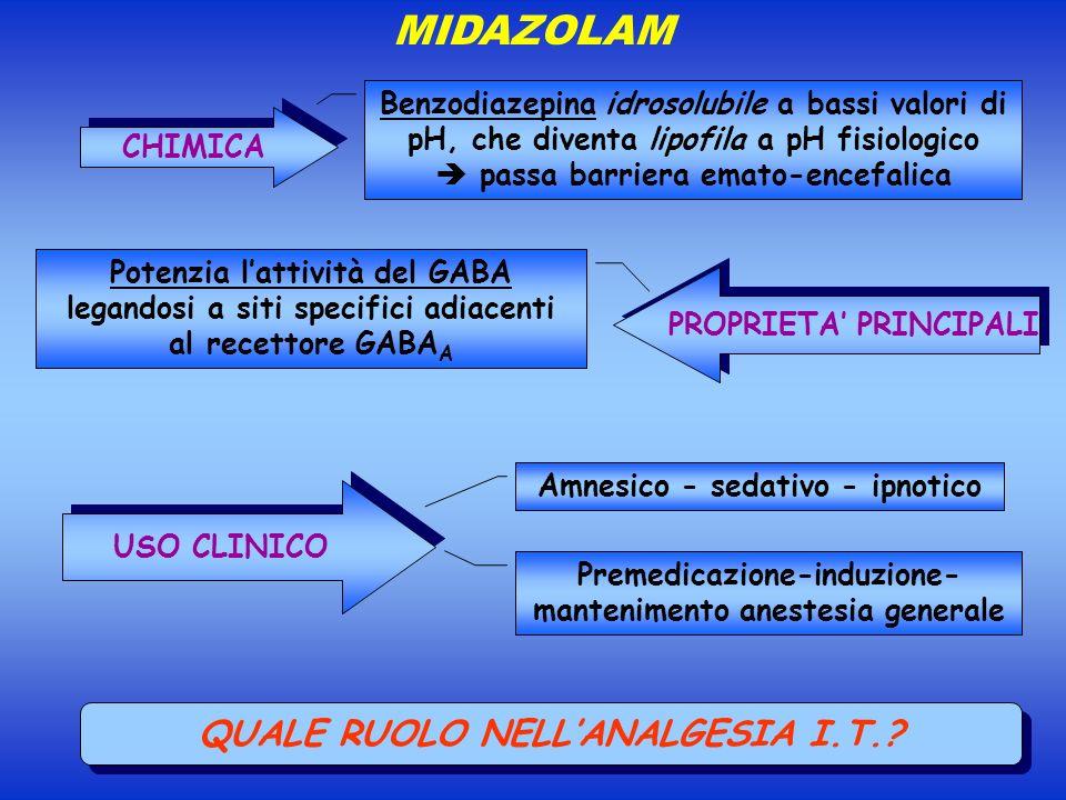 MIDAZOLAM QUALE RUOLO NELL'ANALGESIA I.T.