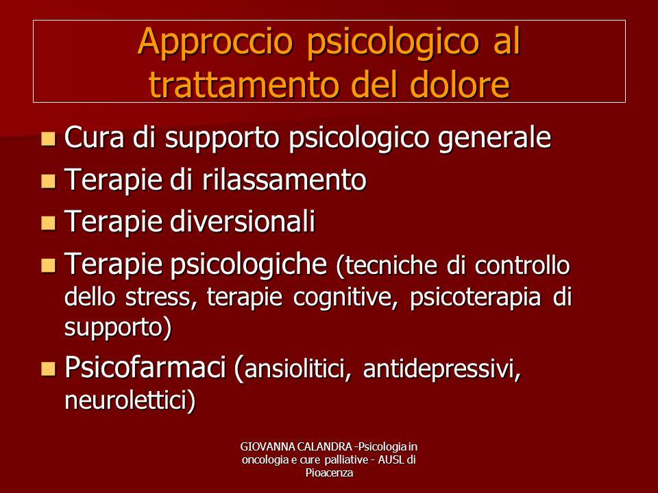 Approccio psicologico al trattamento del dolore