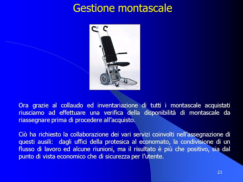 Gestione montascale