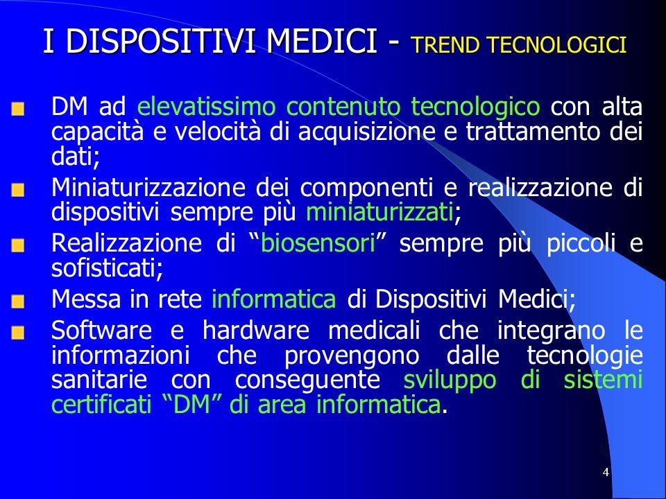 I DISPOSITIVI MEDICI - TREND TECNOLOGICI