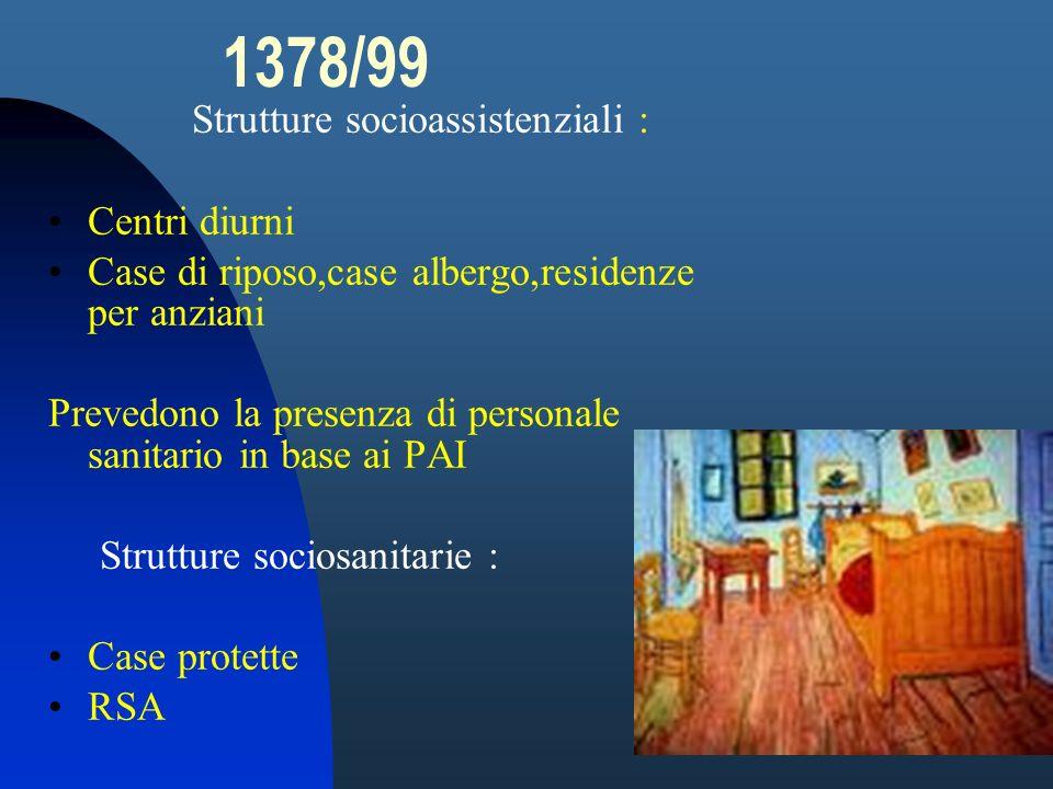 1378/99 Strutture socioassistenziali : Centri diurni