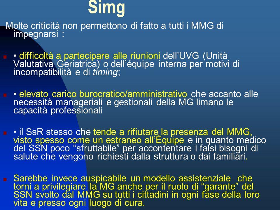 SimgMolte criticità non permettono di fatto a tutti i MMG di impegnarsi :