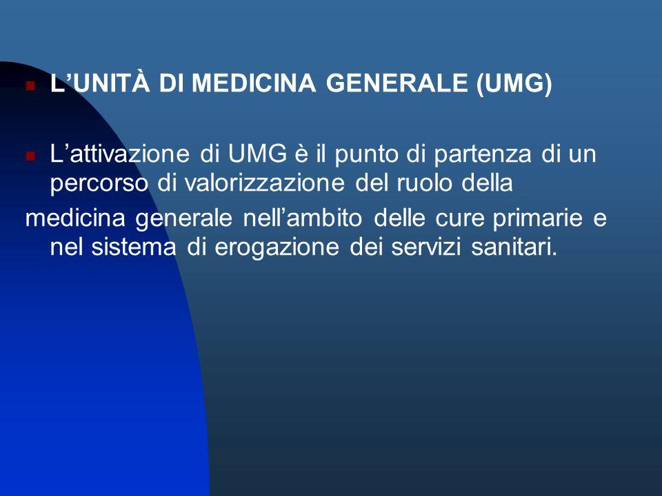 L'UNITÀ DI MEDICINA GENERALE (UMG)