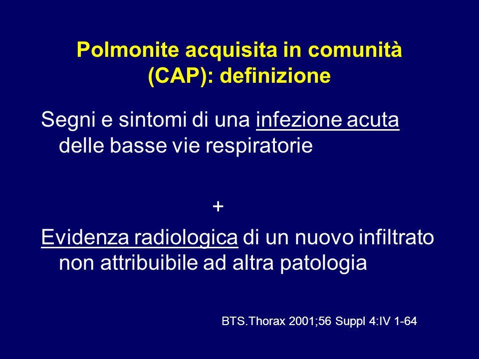 Polmonite acquisita in comunità (CAP): definizione