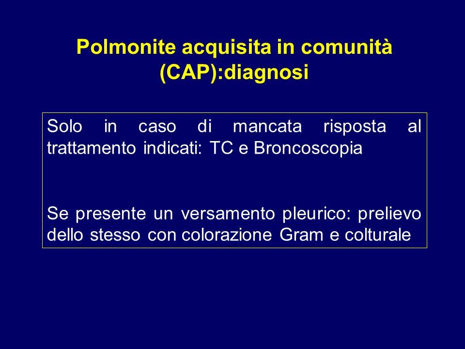Polmonite acquisita in comunità (CAP):diagnosi