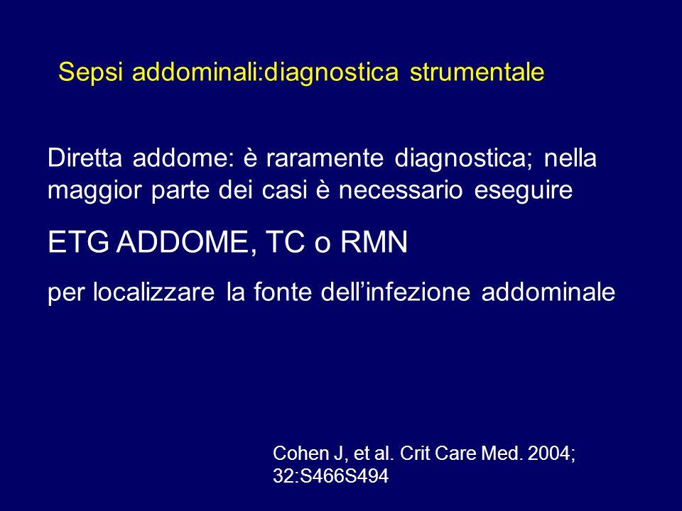 ETG ADDOME, TC o RMN Sepsi addominali:diagnostica strumentale