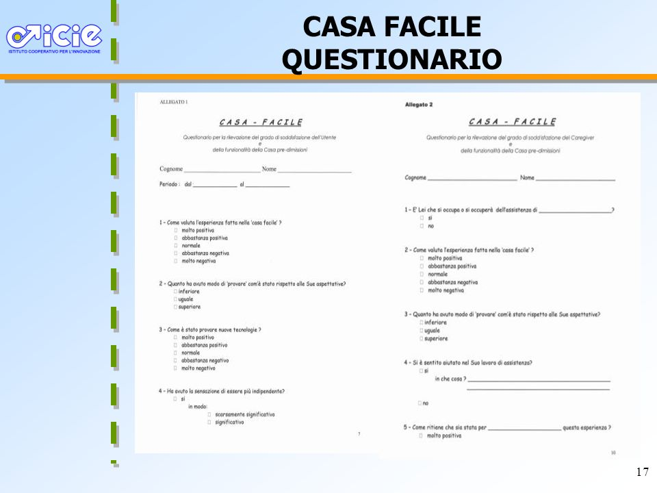 CASA FACILE QUESTIONARIO