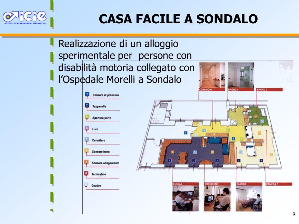 CASA FACILE A SONDALO Realizzazione di un alloggio sperimentale per persone con disabilità motoria collegato con l'Ospedale Morelli a Sondalo.