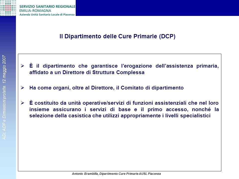 Il Dipartimento delle Cure Primarie (DCP)