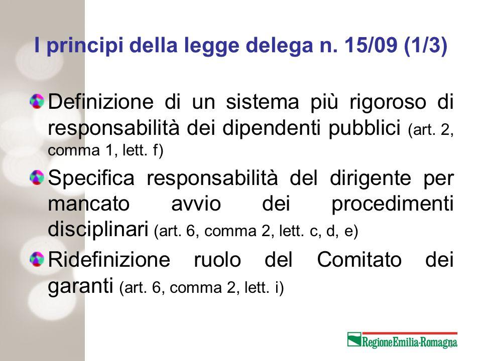 I principi della legge delega n. 15/09 (1/3)