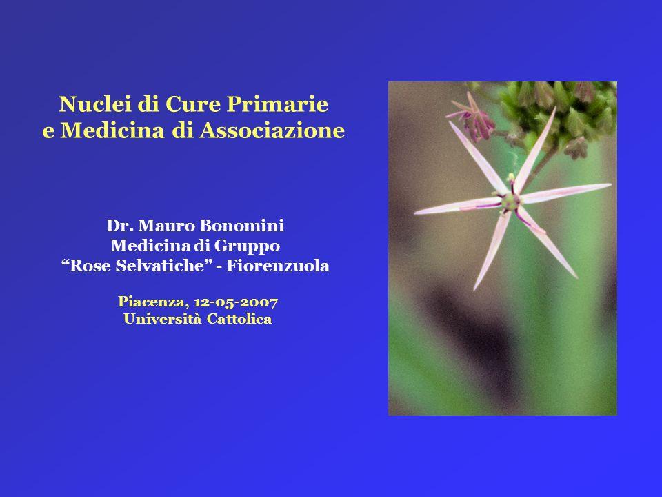 Nuclei di Cure Primarie e Medicina di Associazione