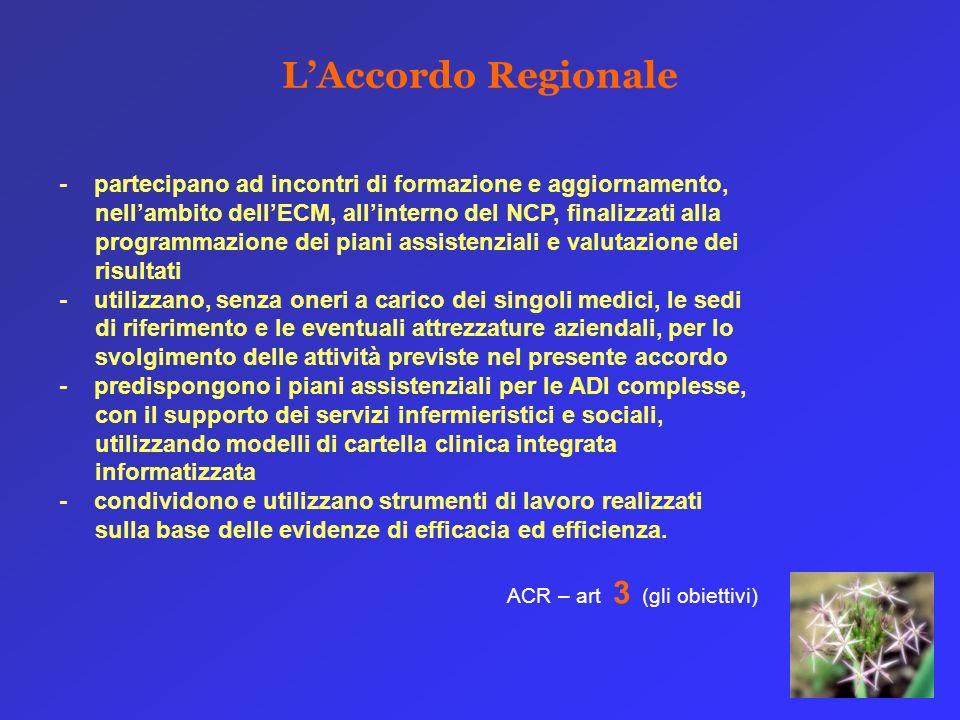 L'Accordo Regionale