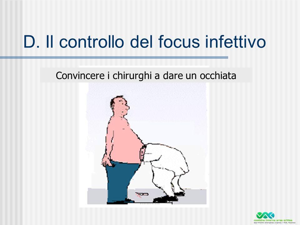 D. Il controllo del focus infettivo
