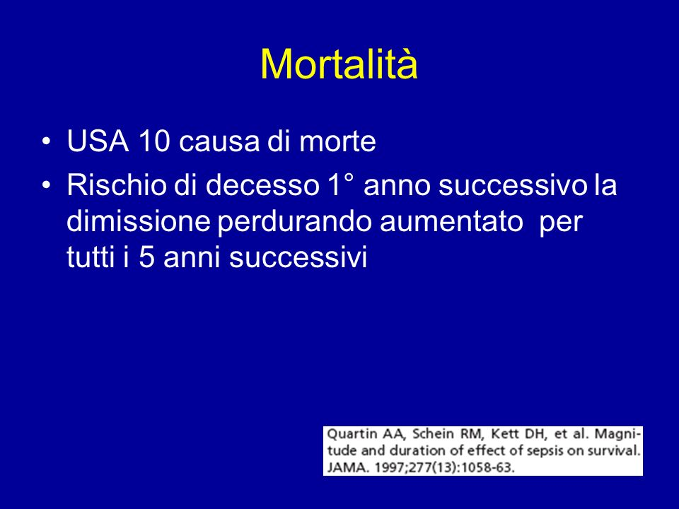 Mortalità USA 10 causa di morte