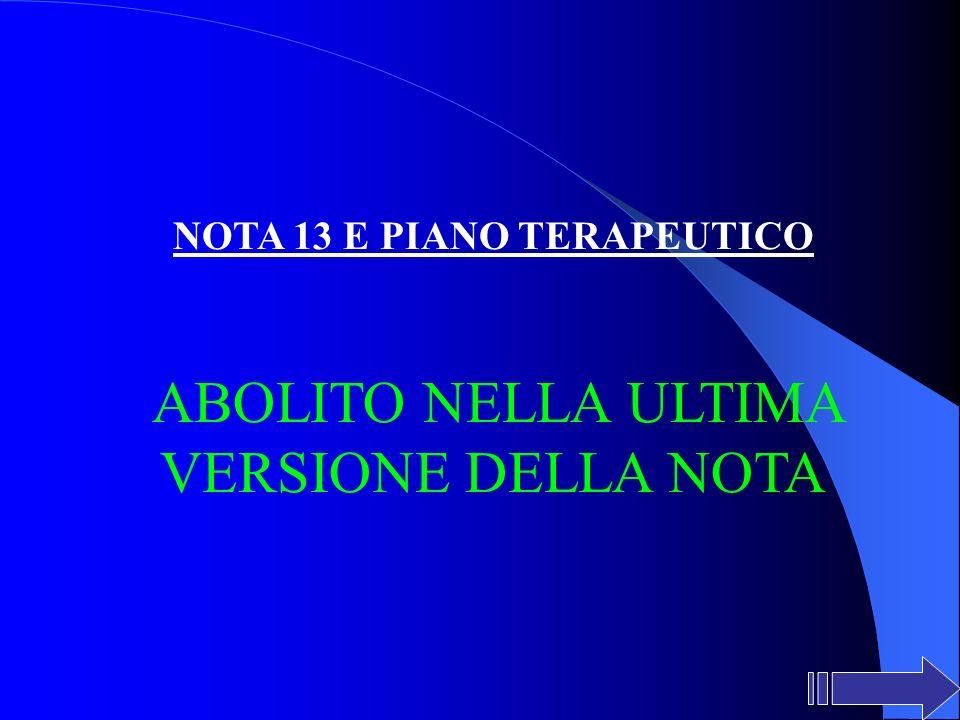 NOTA 13 E PIANO TERAPEUTICO