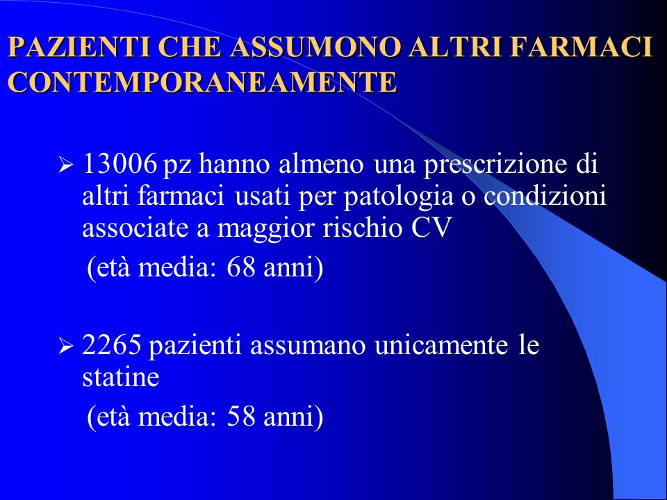 PAZIENTI CHE ASSUMONO ALTRI FARMACI CONTEMPORANEAMENTE