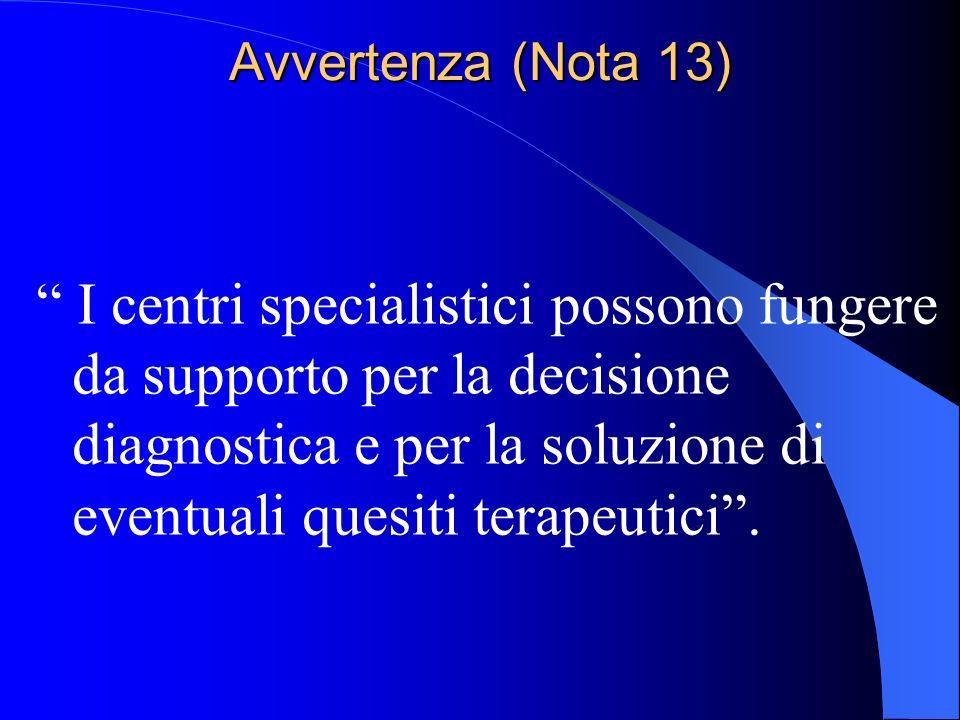 Avvertenza (Nota 13)
