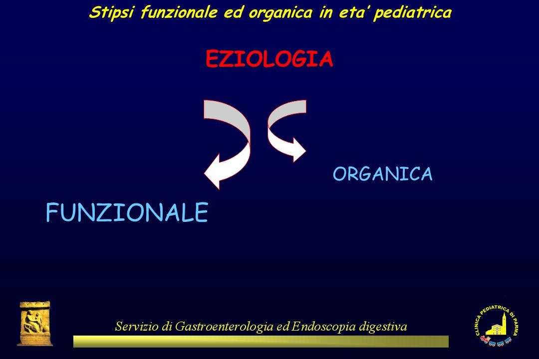 Stipsi funzionale ed organica in eta' pediatrica