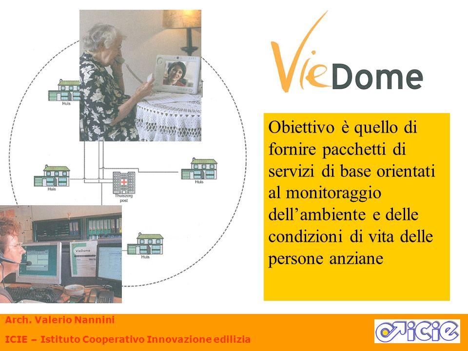 Obiettivo è quello di fornire pacchetti di servizi di base orientati al monitoraggio dell'ambiente e delle condizioni di vita delle persone anziane