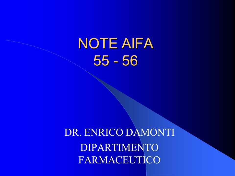 DR. ENRICO DAMONTI DIPARTIMENTO FARMACEUTICO