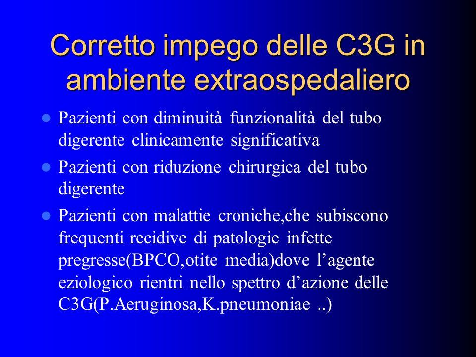 Corretto impego delle C3G in ambiente extraospedaliero