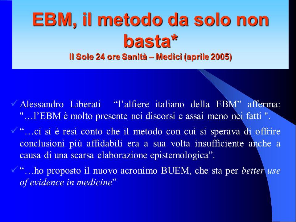 EBM, il metodo da solo non basta