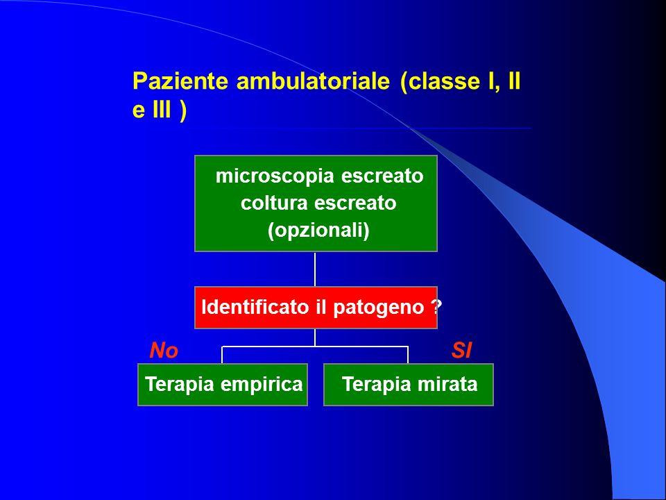 Paziente ambulatoriale (classe I, II e III )