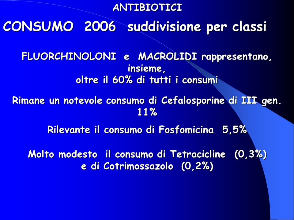 CONSUMO 2006 suddivisione per classi