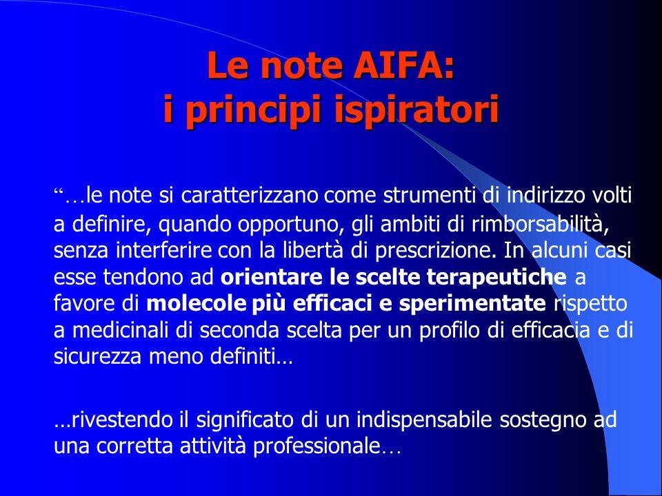 Le note AIFA: i principi ispiratori