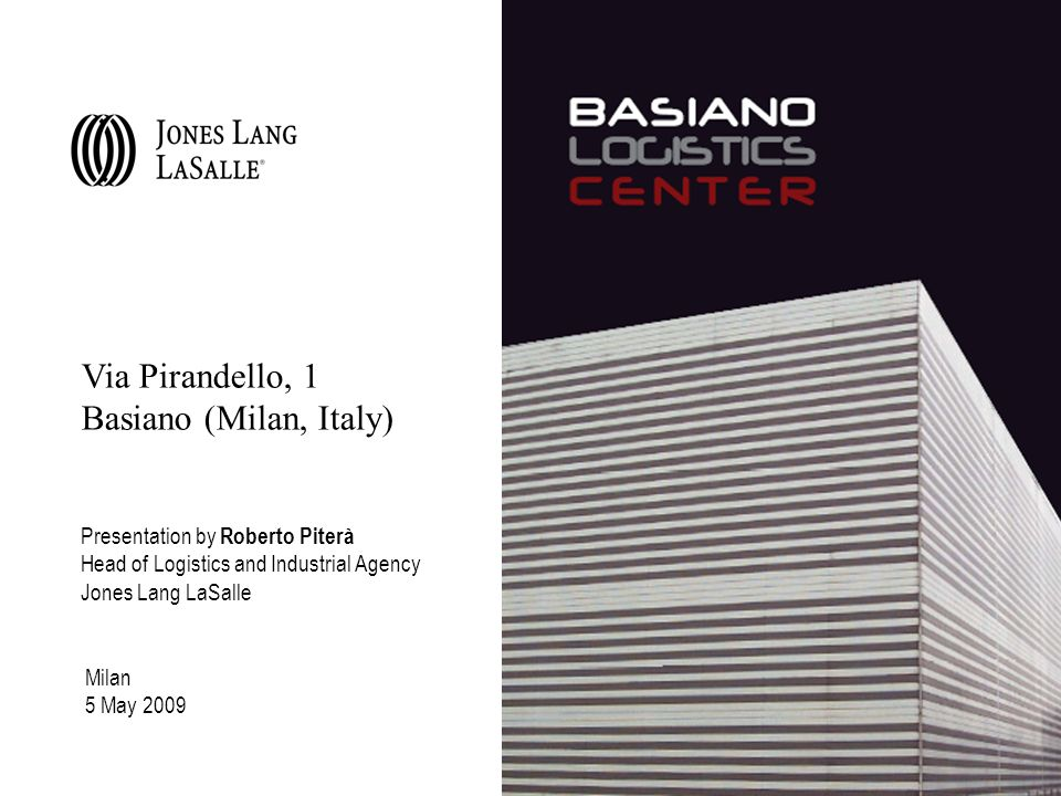 Via Pirandello, 1 Basiano (Milan, Italy)