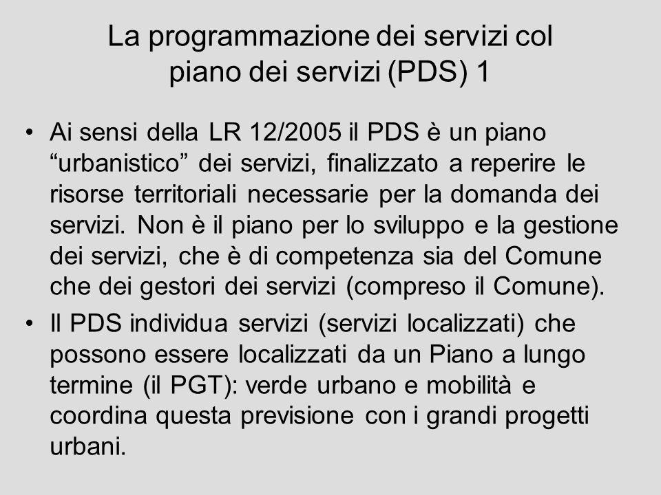 La programmazione dei servizi col piano dei servizi (PDS) 1