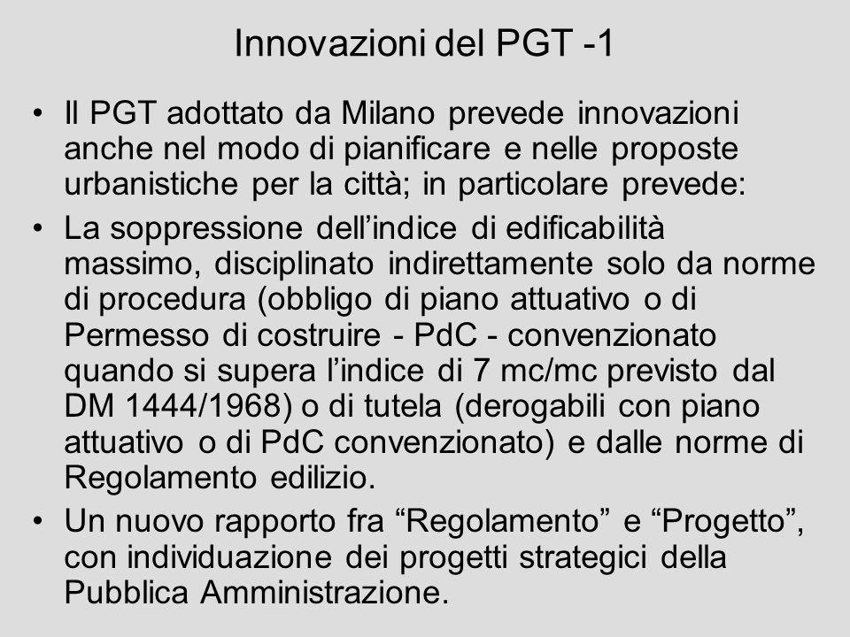Innovazioni del PGT -1