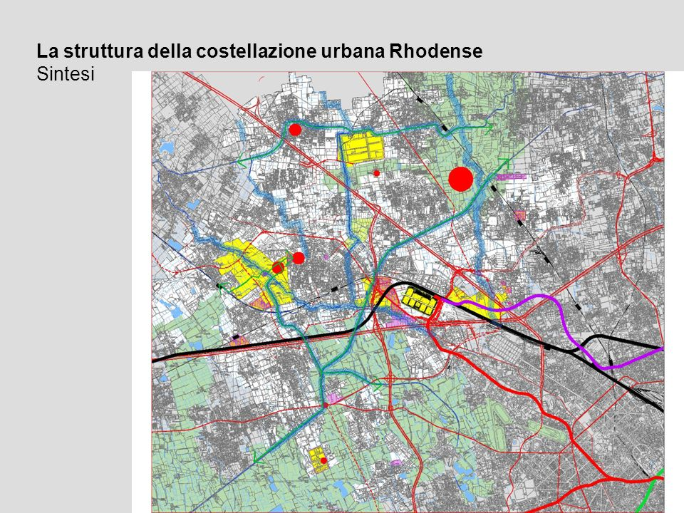 La struttura della costellazione urbana Rhodense