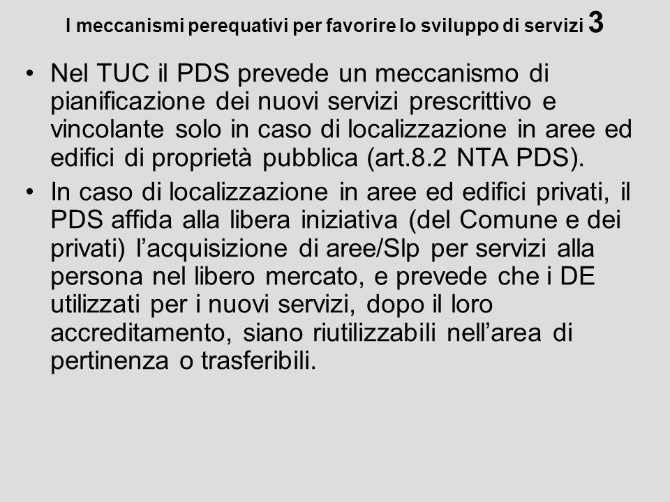 I meccanismi perequativi per favorire lo sviluppo di servizi 3