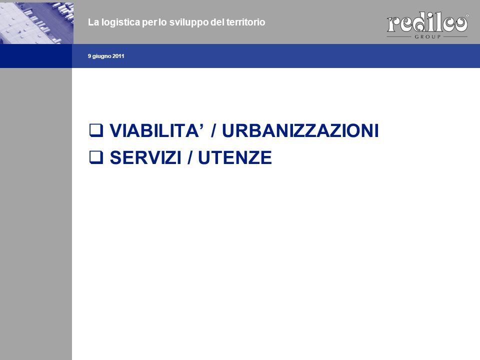 VIABILITA' / URBANIZZAZIONI SERVIZI / UTENZE