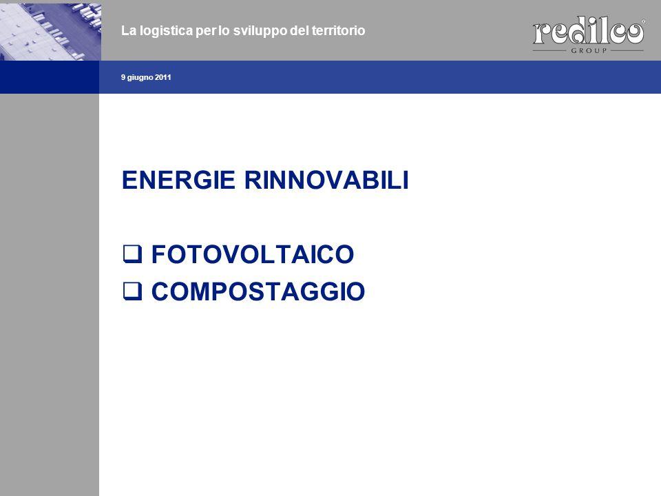 ENERGIE RINNOVABILI FOTOVOLTAICO COMPOSTAGGIO