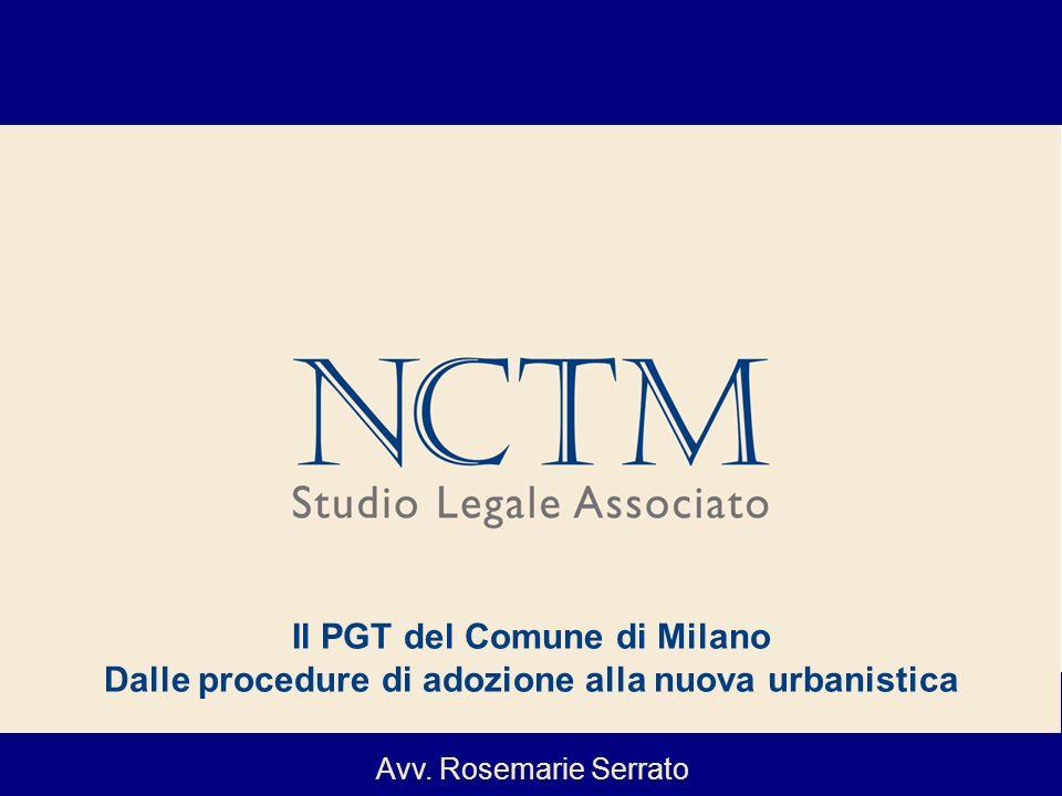 Il PGT del Comune di Milano