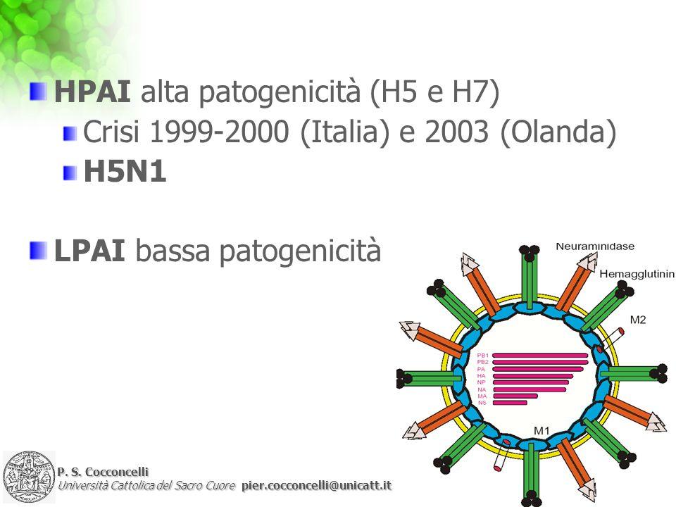 HPAI alta patogenicità (H5 e H7)